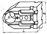 Планка шириной 120 мм с установочным отверстием диаметром 58; 70