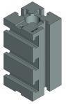 Опора квадратная УСП-12