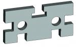 Прокладка прямоугольная30х45 со смещенными т-образными пазами