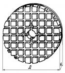 Плиты круглые с крестообразным рас-положением пазов