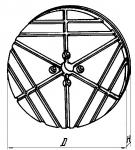 Плиты круглые с ра-диально-поперечным расположением пазов