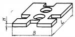 Прокладка прямоугольная 60 х 90 мм