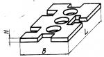 Прокладка прямо-угольная 60 х 120 мм