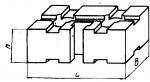 Подкладка прямо-угольная 60 х 120 мм с Т-образным пазом