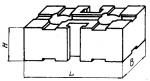 Подкладка прямо-угольная 90 х 120 мм с двумя  Т-образными пазами