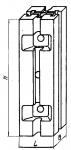 Опора квадратная 90 х 90 мм с че-тырьмя продольными Т-образными