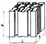 Опора квадратная 120 х 120 мм