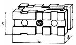 Опора прямоуголь-ная 60 х 120 мм, с вертикальным Т -образным паз