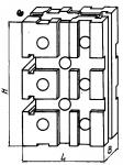 Опора прямоуголь-ная 60 х 120 мм с горизонтальными Т -образным п