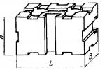 Опора прямо-угольная 60 х 120 мм, высотой 60 мм