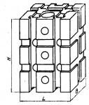 Опора прямоуголь-ная 90 х 120 мм с двумя вертикальны-ми Т -образ