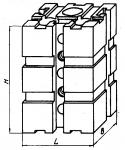 Опора прямоугольная 90 х 120 мм с тремя вертикальными Т -образны