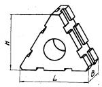 Проставка трехгранная