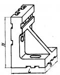 Угольник установочный с основанием 120х120 мм