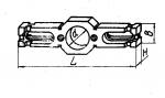 Планка двусторонняя с установочным отверстием диаметром 70; 90 м