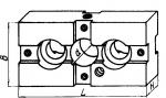 Планка с установочным отверстием диаметром 26; 35 мм